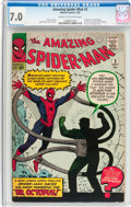 Silver Age (1956-1969):Superhero, The Amazing Spider-Man #3 (Marvel, 1963) CGC FN/VF 7.0 Cream to off-white pages....