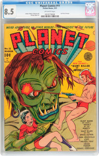 Planet Comics #11 (Fiction House, 1941) CGC VF+ 8.5 Off-white pages