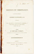Books:Religion & Theology, Edward Everett. Defence of Christianity, against the Work of George B. English, A.M. Boston: Cummings and Hilliard, ...