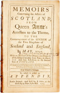 Books:World History, [George Lockhart]. Memoirs Concerning the Affairs of Scotland, from Queen Anne's Accession to the Throne, to the Commenc...