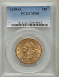 Liberty Eagles: , 1899-O $10 MS61 PCGS. PCGS Population (62/62). NGC Census: (47/39). Mintage: 37,047. Numismedia Wsl. Price for problem free...