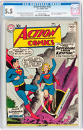 Silver Age (1956-1969):Superhero, Action Comics #252 (DC, 1959) CGC FN- 5.5 Off-white to white pages....