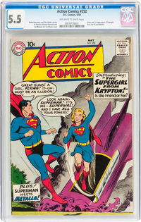 Action Comics #252 (DC, 1959) CGC FN- 5.5 Off-white to white pages