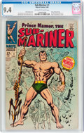 Silver Age (1956-1969):Superhero, The Sub-Mariner #1 (Marvel, 1968) CGC NM 9.4 Off-white to white pages....