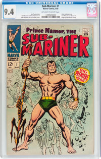 The Sub-Mariner #1 (Marvel, 1968) CGC NM 9.4 Off-white to white pages