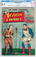 Golden Age (1938-1955):Superhero, Action Comics #127 (DC, 1948) CGC VF+ 8.5 Off-white to white pages....