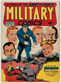 Golden Age (1938-1955):War, Military Comics #25 (Quality, 1944) Condition: VF....