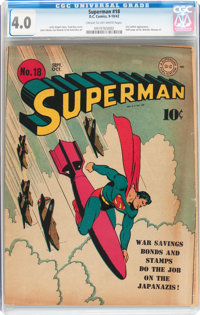 Superman #18 (DC, 1942) CGC VG 4.0 Cream to off-white pages