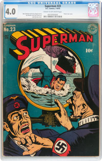 Superman #23 (DC, 1943) CGC VG 4.0 Cream to off-white pages
