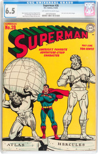 Superman #28 (DC, 1944) CGC FN+ 6.5 Off-white to white pages