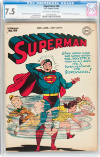 Superman #40 (DC, 1946) CGC VF- 7.5 Off-white to white pages