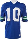 Football Collectibles:Uniforms, Circa 1976-80 Jim Zorn Game Worn Seattle Seahawks Jersey, MEARS A10....