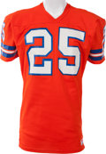Football Collectibles:Uniforms, 1980-83 Haven Moses Game Worn Denver Broncos Jersey, MEARS A10....