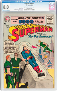 Superman #107 (DC, 1956) CGC VF 8.0 Off-white to white pages