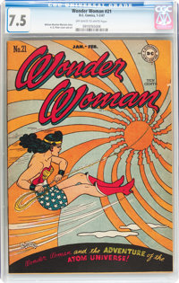 Wonder Woman #21 (DC, 1947) CGC VF- 7.5 Off-white to white pages