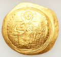 Ancients:Byzantine, Ancients: Constantine IX Monomachus (AD 1042-1055). AV histamenonnomisma (31mm, 4.38 gm, 6h). ...