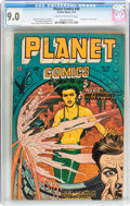 Golden Age (1938-1955):Science Fiction, Planet Comics #49 (Fiction House, 1947) CGC VF/NM 9.0 Cream to off-white pages....