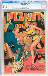 Planet Comics #50 (Fiction House, 1947) CGC VF+ 8.5 Off-white pages