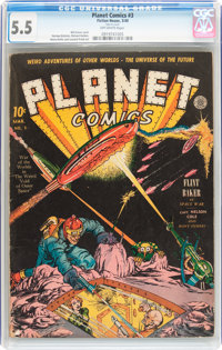 Planet Comics #3 (Fiction House, 1940) CGC FN- 5.5 Off-white pages