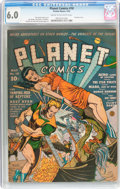 Golden Age (1938-1955):Science Fiction, Planet Comics #18 (Fiction House, 1942) CGC FN 6.0 Cream tooff-white pages....