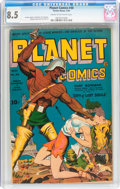 Golden Age (1938-1955):Science Fiction, Planet Comics #30 (Fiction House, 1944) CGC VF+ 8.5 Cream tooff-white pages....