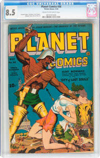 Planet Comics #30 (Fiction House, 1944) CGC VF+ 8.5 Cream to off-white pages