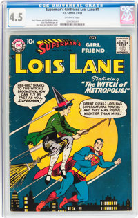 Superman's Girlfriend Lois Lane #1 (DC, 1958) CGC VG+ 4.5 Off-white pages