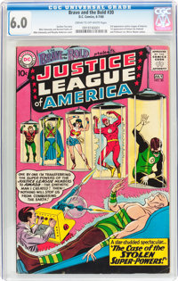 The Brave and the Bold #30 Justice League of America (DC, 1960) CGC FN 6.0 Cream to off-white pages