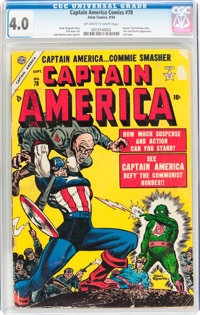 Captain America Comics #78 (Atlas, 1954) CGC VG 4.0 Off-white to white pages