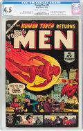Golden Age (1938-1955):Superhero, Young Men #24 (Atlas, 1953) CGC VG+ 4.5 Cream to off-white pages....