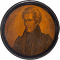 Political:3D & Other Display (pre-1896), Andrew Jackson: An Exceptional Papier-mâché Snuff Box....