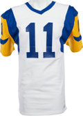 Football Collectibles:Uniforms, 1976-81 Pat Haden Game Worn Los Angeles Rams Jersey, MEARS A8. ...
