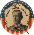 "Political:Pinback Buttons (1896-present), Woodrow Wilson: ""Liberty, Justice, Humanity""...."
