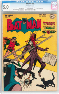 Batman #40 (DC, 1947) CGC VG/FN 5.0 Off-white to white pages