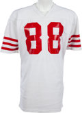 Football Collectibles:Uniforms, 1979-83 Freddie Solomon Game Worn San Francisco 49ers Jersey, MEARS A8....