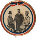 Political:Pinback Buttons (1896-present), Theodore Roosevelt: Mediator of Capital and Labor CartoonButton....