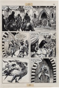 Original Comic Art:Panel Pages, Alfredo Alcala Savage Sword of Conan #89 Page #26 OriginalArt (Marvel, 1983).. ...