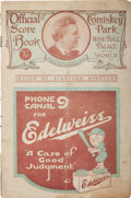 Baseball Collectibles:Publications, 1919 Chicago Black Sox Publication Archive including World SeriesGame 5 Program....