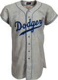 Baseball Collectibles:Uniforms, 1954 Don Zimmer Game Worn Brooklyn Dodgers Rookie Jersey....