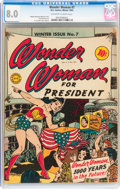Golden Age (1938-1955):Superhero, Wonder Woman #7 (DC, 1943) CGC VF 8.0 Off-white to white pages....