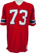 Football Collectibles:Uniforms, 1976-81 John Hannah Game Worn New England Patriots Jersey....