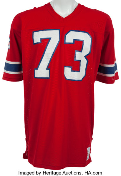 3261f4aab 1976-81 John Hannah Game Worn New England Patriots Jersey....