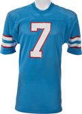 Football Collectibles:Uniforms, 1976-79 Dan Pastorini Game Worn Houston Oilers Jersey, MEARS A10....