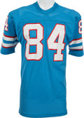 Football Collectibles:Uniforms, 1977-79 Billy White Shoes Johnson Game Worn Houston Oilers Jersey....