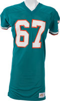 Football Collectibles:Uniforms, 1978-80 Bob Kuechenberg Game Worn Miami Dolphins Jersey, MEARS A10....