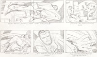 "Jack Kirby Fantastic Four Animated Cartoon Storyboard ""The Frightful Four"" Page 24 Original Art (DePatie-Frele..."