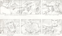 "Jack Kirby Fantastic Four Animated Cartoon Storyboard ""The Frightful Four"" Page 52 Original Art (DePatie-Frele..."