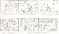 "Jack Kirby Fantastic Four Animated Cartoon Storyboard ""The Frightful Four"" Page 33 Original Art (DePatie-Frele..."