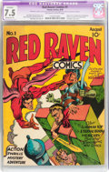 Golden Age (1938-1955):Superhero, Red Raven Comics #1 (Timely, 1940) CGC Apparent VF- 7.5 Moderate (P) Off-white to white pages....