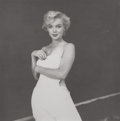 Photographs, MILTON GREENE (American, 1922-1985). Marilyn Monroe, WhiteDress, 1954. Gelatin silver. 9 x 9 inches (22.9 x 22.9 cm).A...
